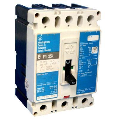 Cutler Hammer FD3050 3-Pole 50 Amp Molded Case Circuit Breaker