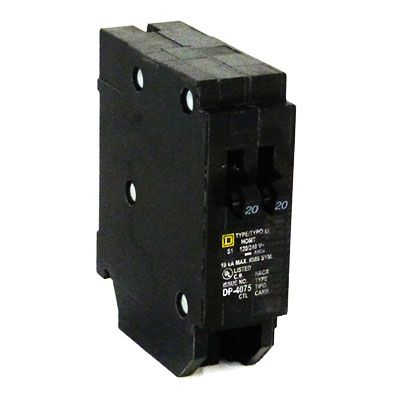 Square D HOMT2020 1-Pole 20 Amp Molded Case Circuit Breaker