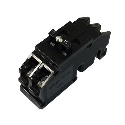 Zinsco QC15 2-Pole 15 Amp Molded Case Circuit Breaker