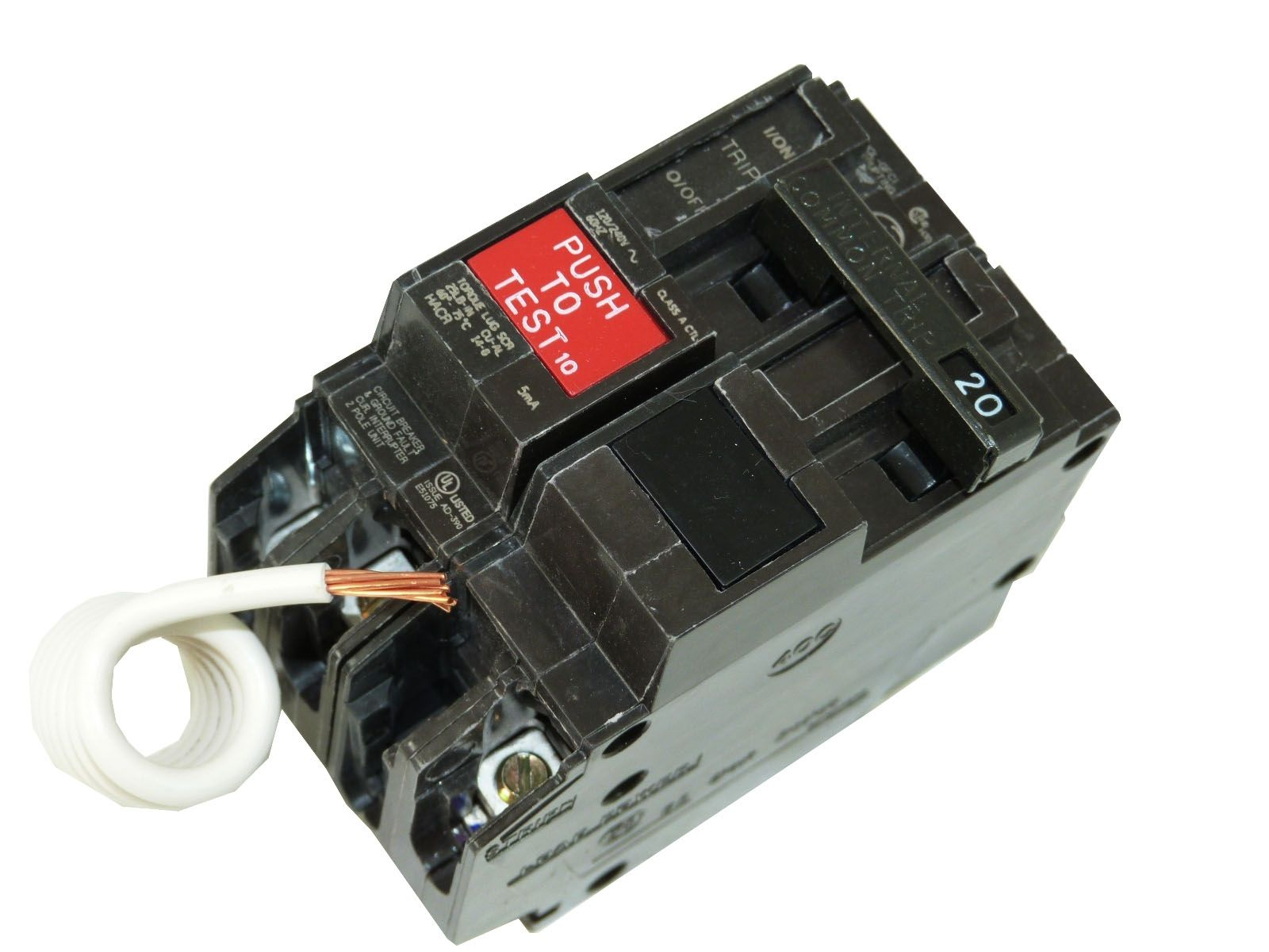 General Electric THQL2120GF1 2-Pole 20 Amp Molded Case Circuit Breaker