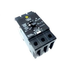 Square D EDB34015 3-Pole 15 Amp Molded Case Circuit Breaker