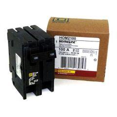 Square D HOM2100 2-Pole 100 Amp Molded Case Circuit Breaker