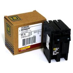 Square D HOM290 2-Pole 90 Amp Molded Case Circuit Breaker